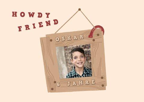 Einladung zum Cowboy-Kindergeburtstag 2