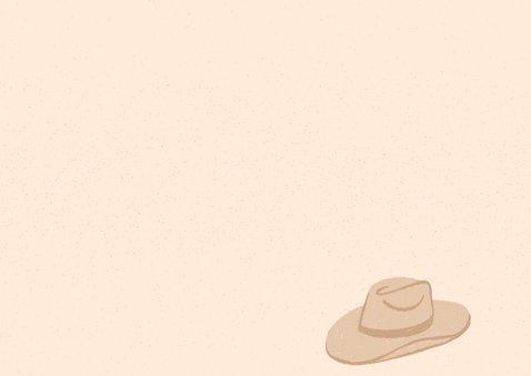 Einladung zum Cowboy-Kindergeburtstag Rückseite