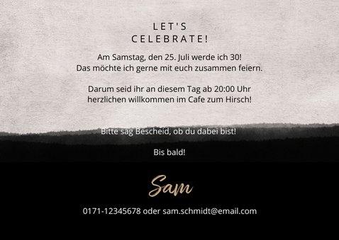 Einladung zum Geburtstag Betonlook mit Foto 3