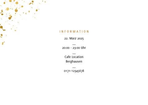 Einladung zum Geburtstag Party im Goldlook 2