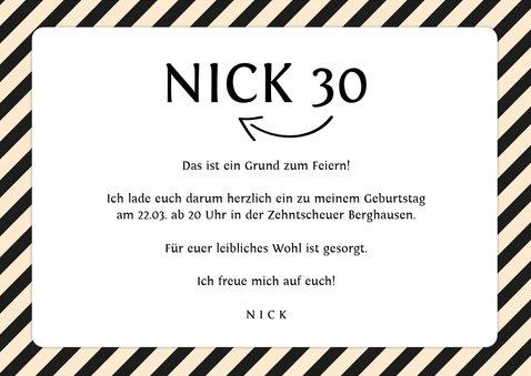 Einladung zum Geburtstag Schwarzweiß mit Foto 3