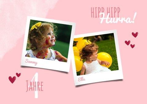 Einladung zum Geburtstag Zwillingsmädchen Fotos 2
