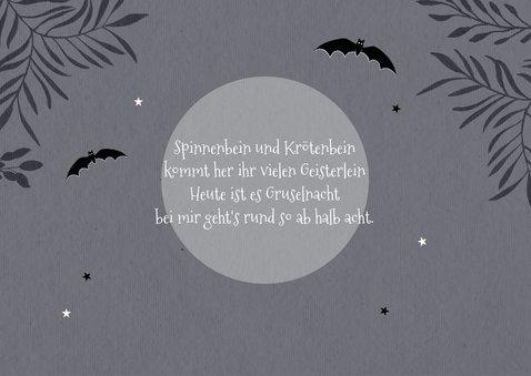 Einladung zum Halloween-Kindergeburtstag Gruselnacht 2