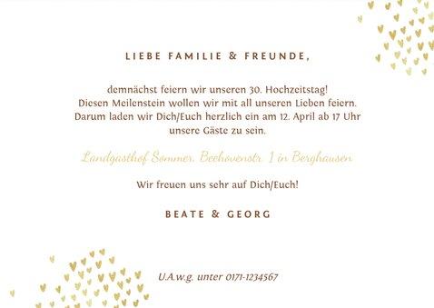 Einladung zum Hochzeitsjubiläum Holz mit Fotos 3