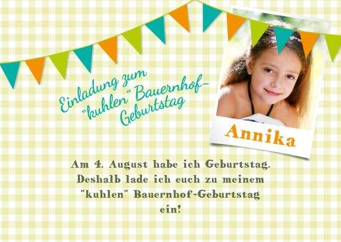 Einladung zum Kindergeburtstag beim Zeintl Erlebnisbauernhof 2