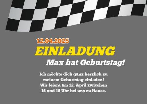 Einladung zum Kindergeburtstag Formel-1-Auto  2