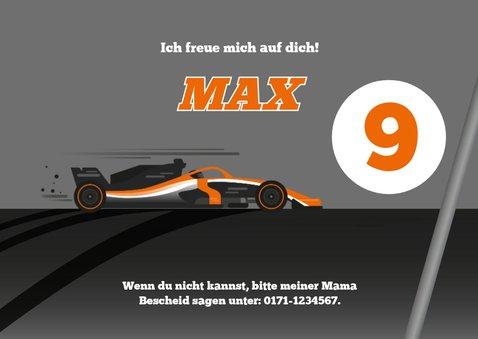Einladung zum Kindergeburtstag Formel-1-Auto  3