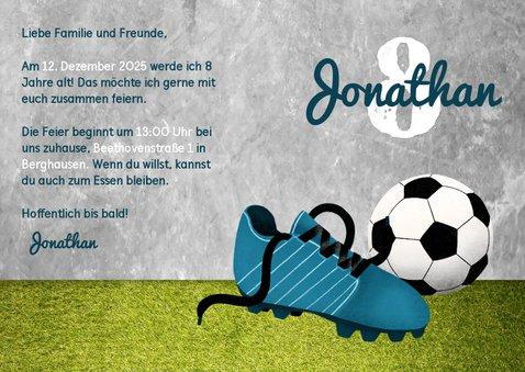Einladung zum Kindergeburtstag Fußball & Polaroidfoto 3