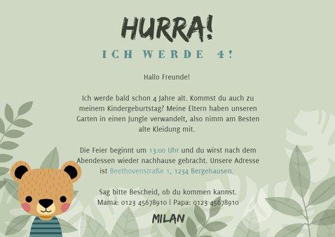 Einladung zum Kindergeburtstag mit Foto und Bär 3