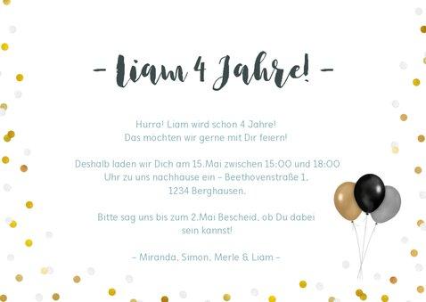 Einladung zum Kindergeburtstag mit vier Fotos 3