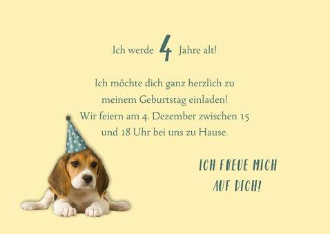 Einladung zum Kindergeburtstag Partyhund 3