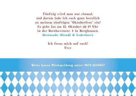 Einladung zum Oktoberfest in Blau-Weiß 3