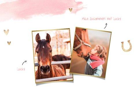 Einladung zum Pferdegeburtstag mit Foto und Hufeisen 2