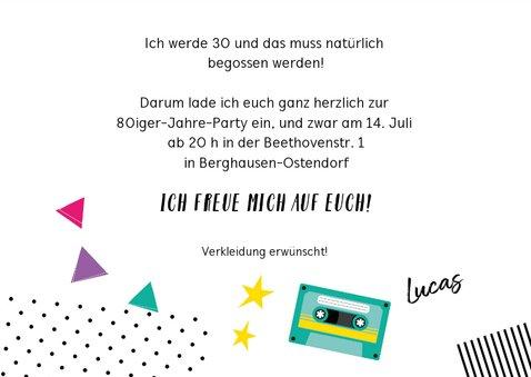 Einladung zum Retro-Geburtstag Eighties Party 3