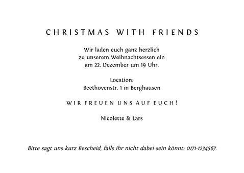Einladung zum Weihnachtessen Christmas dinner 3