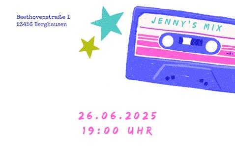 Einladung zur 80er-Jahre-Party mit Kassette 2