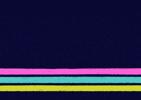 Einladung zur 80er-Jahre-Party mit Kassette Rückseite