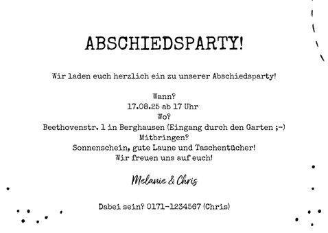 Einladung zur Abschiedsparty Foto & BBQ 3
