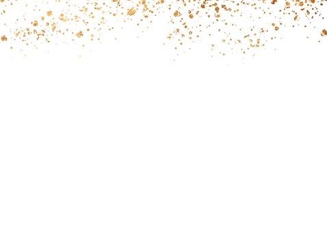 Einladung zur Abschiedsparty Foto & Goldkonfetti Rückseite