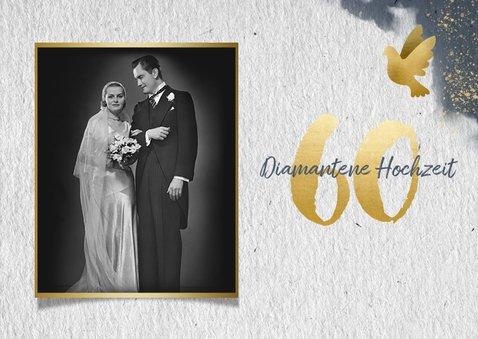 Einladung zur diamantenen Hochzeit mit Foto 2