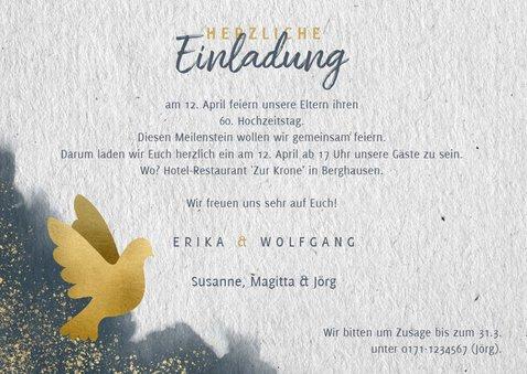 Einladung zur diamantenen Hochzeit mit Foto 3