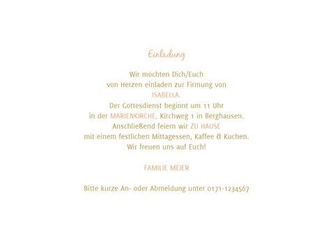Einladung zur Firmung Fotocollage & Goldakzente 3