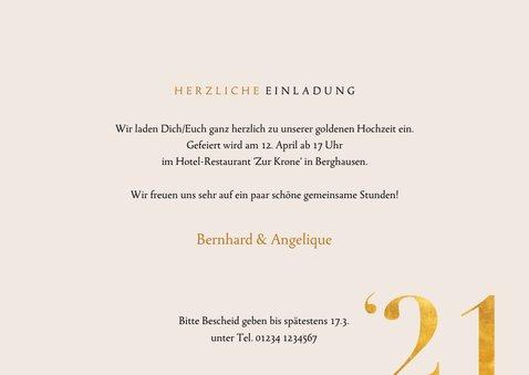 Einladung zur goldenen Hochzeit Fotos 1971-2021 3