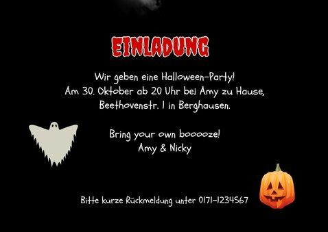 Einladung zur Halloweenparty Spinnennetz & Foto 3