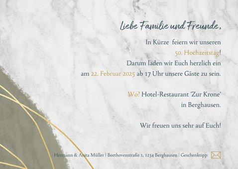 Einladung zur Jubiläumsfeier goldene Hochzeit mit Fotos 3