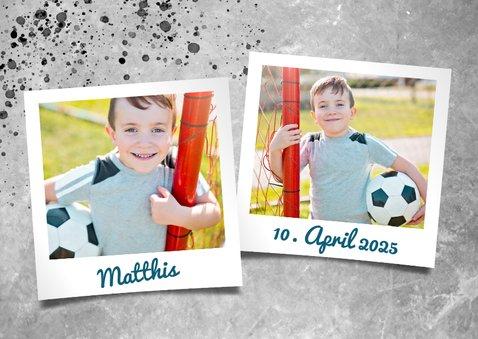 Einladung zur Kommunion Foto & Fußball 2