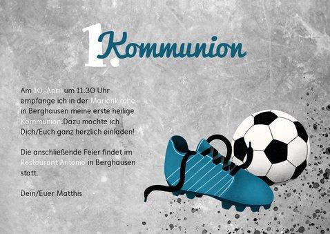 Einladung zur Kommunion Foto & Fußball 3
