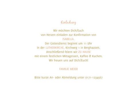 Einladung zur Konfirmationsfeier Fotocollage Goldlook 3
