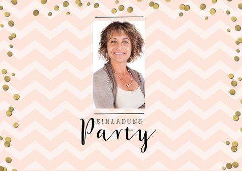 Einladung zur Ruhestand-Party rosa 2