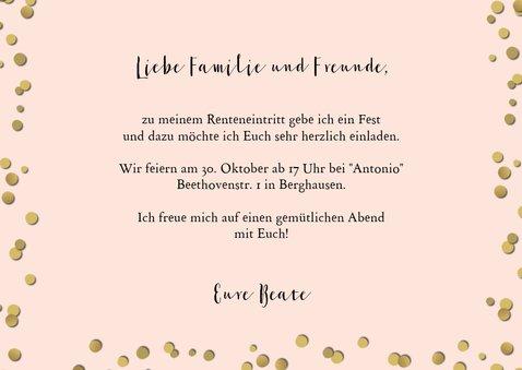 Einladung zur Ruhestand-Party rosa 3