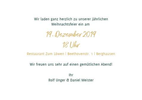 Einladung zur Weihnachtsfeier Aquarell & Schrift in Goldlook 3