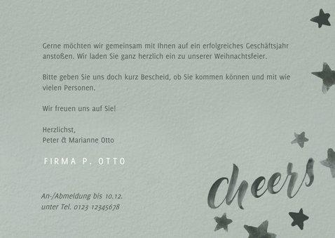 """Einladung zur Weihnachtsfeier """"Cheers"""" 3"""