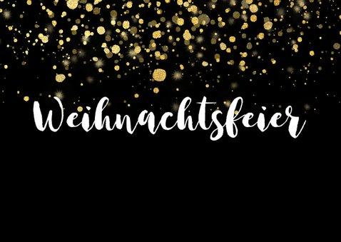 Einladung zur Weihnachtsfeier goldene Konfetti 2