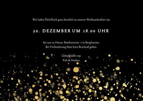 Einladung zur Weihnachtsfeier goldene Konfetti 3