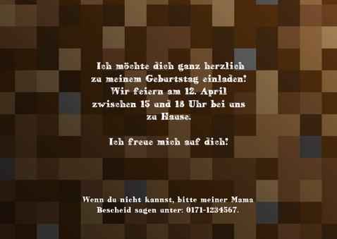 Einladungksarte zum Minecraft-Kindergeburtstag 3