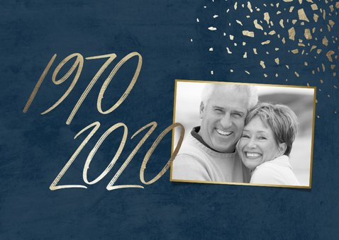 Einladungskarte 50. Hochzeitstag 1970-2020 2