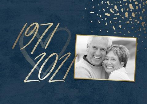 Einladungskarte 50. Hochzeitstag 1971-2021 2