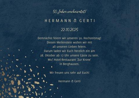 Einladungskarte 50. Hochzeitstag 1971-2021 3