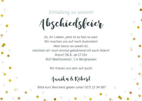 Einladungskarte Abschiedsfeier Fotocollage 3