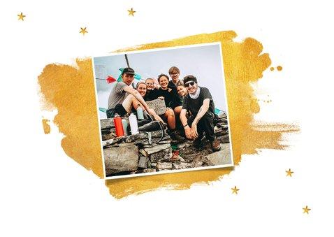 Einladungskarte Christmas dinner gold mit Sternen 2