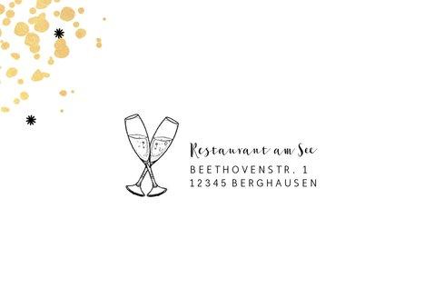 Einladungskarte Dienstjubiläum gold mit Foto 2