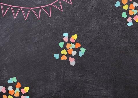 Einladungskarte Einschulung rosa Schultüte und Foto Rückseite