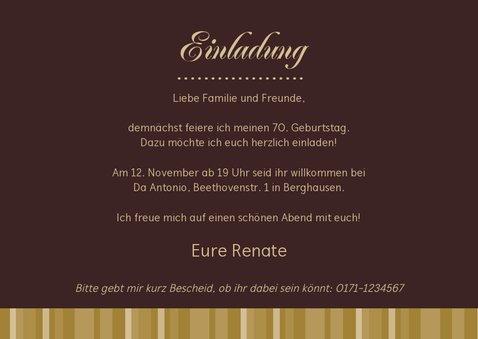 Einladungskarte Geburtstag Moderne Klassik mit Foto 3