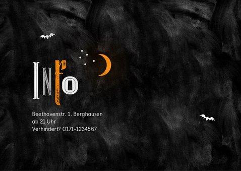 Einladungskarte Happy Halloween 2