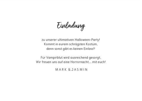 Einladungskarte Happy Halloween 3