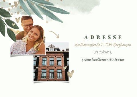 Einladungskarte Housewarming botanisch mit Fotos 2